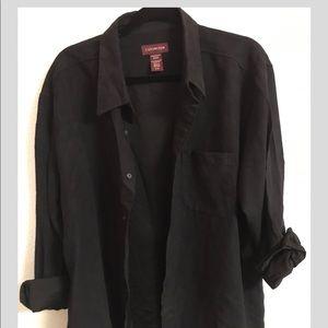 Suede button down/flannel